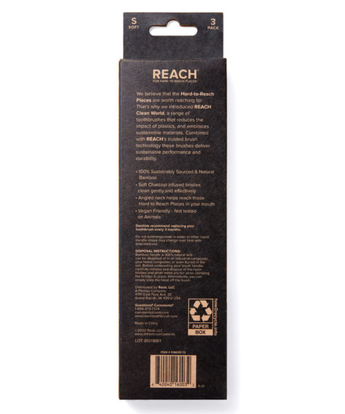 REACH Clean World Bamboo Toothbrush