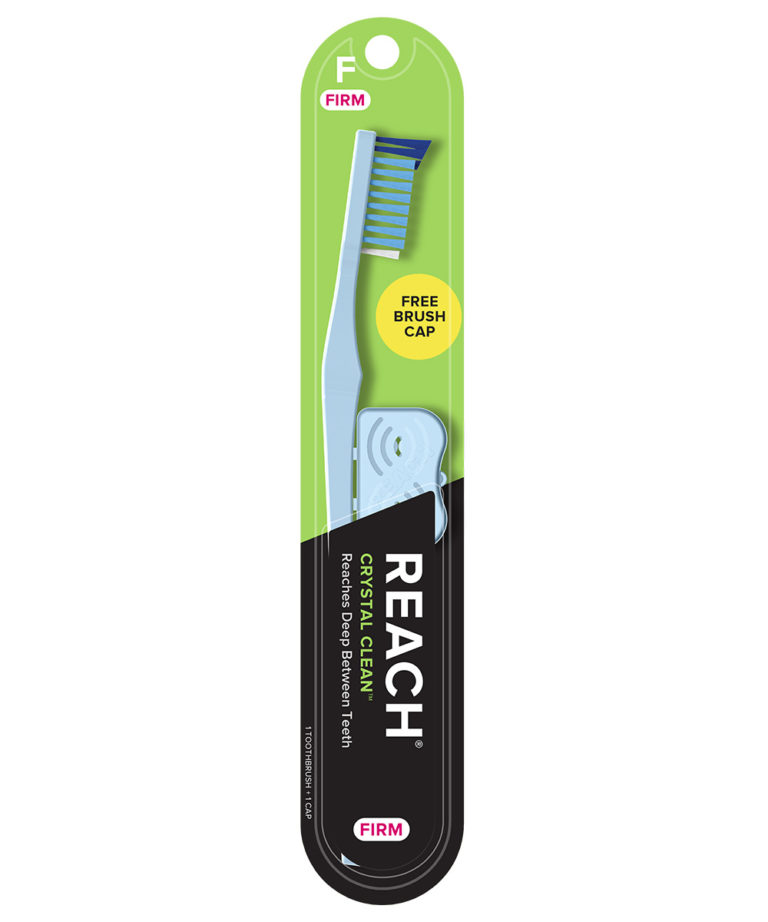 REACH Crystal Clean Toothbrush with Firm Bristles, 1 Count