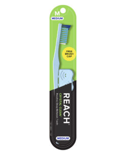 REACH Crystal Clean Toothbrush with Medium Bristles, 1 Count