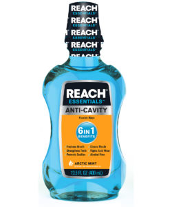 REACH Essentials Anti-Cavity 6 In 1 Benefits Mouthwash, 13.5Oz