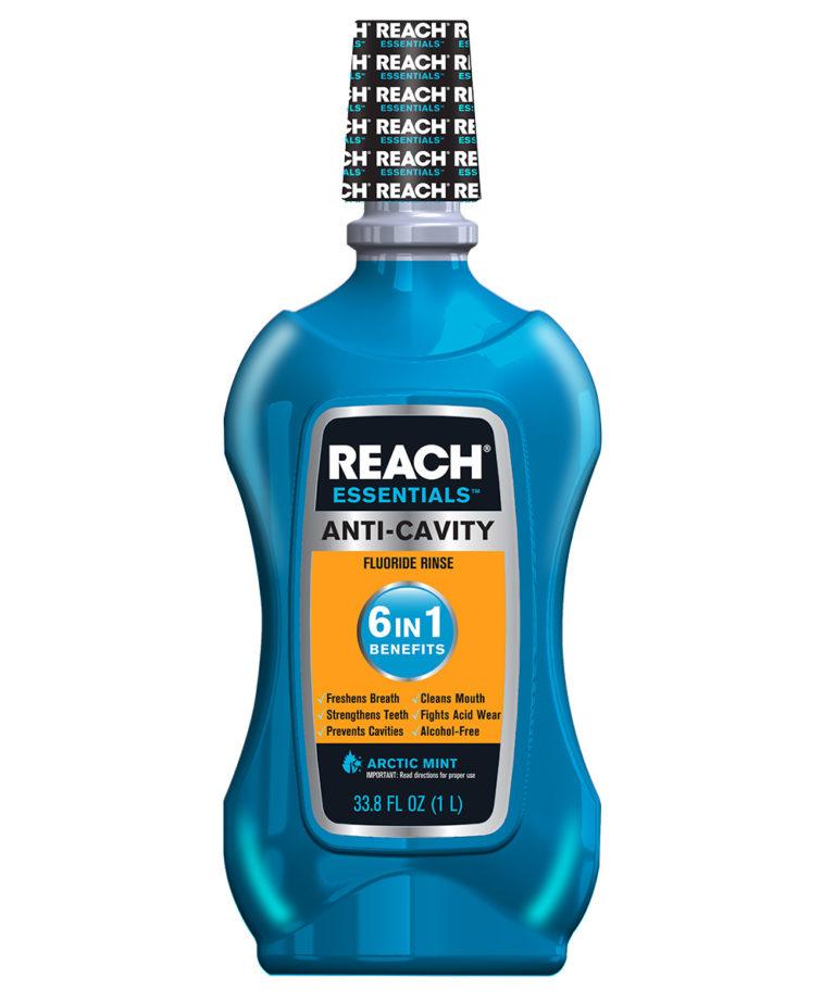 REACH Essentials Anti-Cavity 6 In 1 Benefits Mouthwash, 33.8Oz