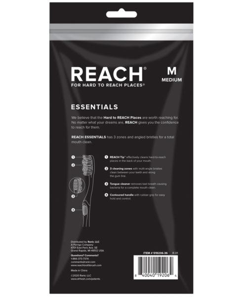Reach Essentials Toothbrush with Medium Bristles