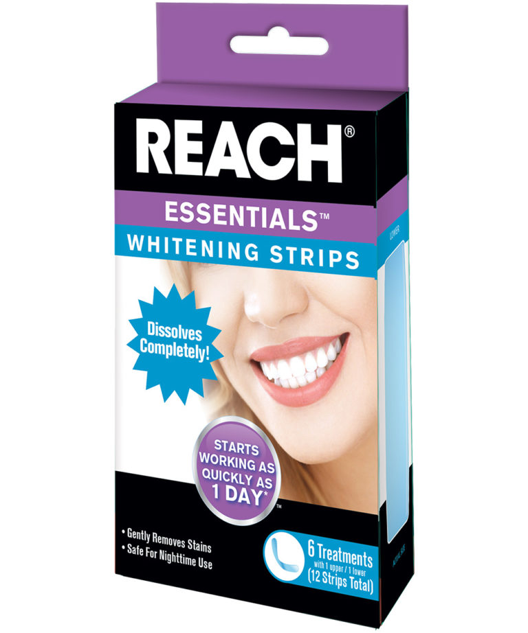 REACH Essentials Teeth Whitening Strips 6 pack
